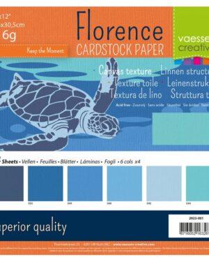 Florence • Cardstock multipack 30,5×30,5cm Blauw