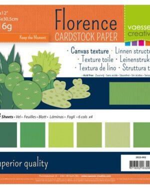 Florence • Cardstock multipack 30,5×30,5cm Groen