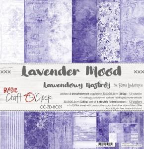 Craft O' Clock – Lavender Mood – Paperpad 30.5 x 30.5 cm