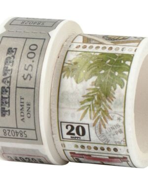 CC Hobby Washi Tape – ticket & natuurmotieven