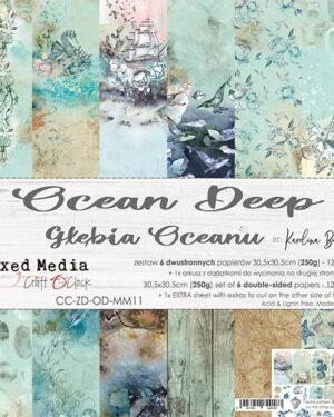 Craft O' Clock –  Deep Ocean – Paperpad 30.5 x 30.5 cm