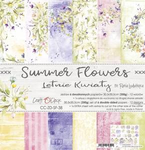 Craft O' Clock – Summer Flowers – Paperpad 30.5 x 30.5 cm