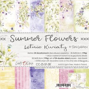 Craft O' Clock – Summer FLowers – Paperpad 20.3 x 20.3 cm