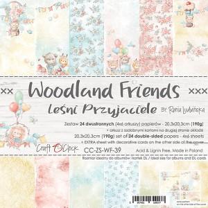 Craft O' Clock – Woodland Friends – Paperpad 20.3 x 20.3 cm