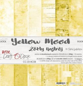 Craft O' Clock – Yellow Mood – Paperpad 30.5 x 30.5 cm