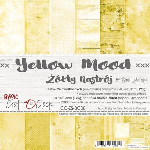 Craft O' Clock – Yellow Mood – Paperpad 20.3 x 20.3 cm