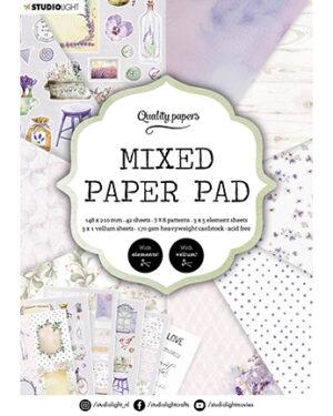 """""""Pre order"""" Studio Light Mixed Paper pad Essentials nr.3 SL-ES-MPP03"""