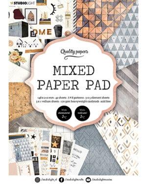 """""""Pre order"""" Studio Light Mixed Paper pad Essentials nr.4 SL-ES-MPP04"""