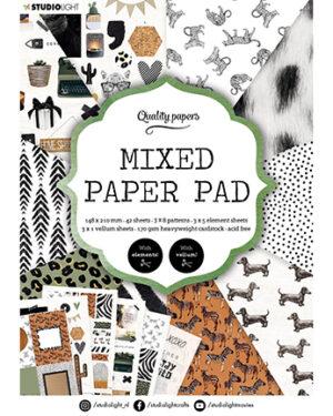 """""""Pre order"""" Studio Light Mixed Paper pad Essentials nr.5 SL-ES-MPP05"""
