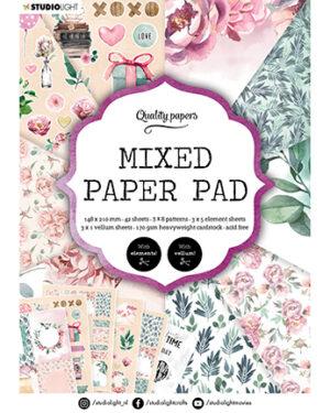 """""""Pre order"""" Studio Light Mixed Paper pad Essentials nr.8 SL-ES-MPP08 A5"""