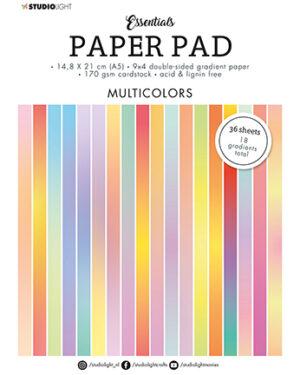 """""""Pre order"""" Studio Light Paper pad Essentials Multicolors SL-ES-PP20 A5"""