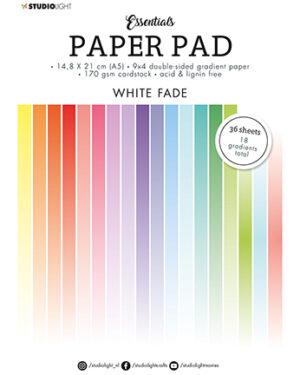 """Pre order"" Studio Light Paper pad Essentials White Fade SL-ES-PP21 A5"