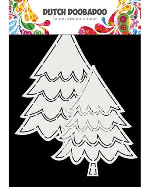 """""""Pre order"""" Dutch Doobadoo Card Art Kerstbomen 2 set A5 470.784.016"""