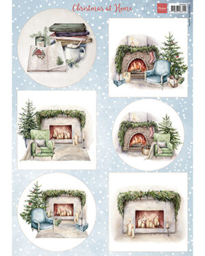 Marianne D Decoupage Kerst thuis VK9594 A4