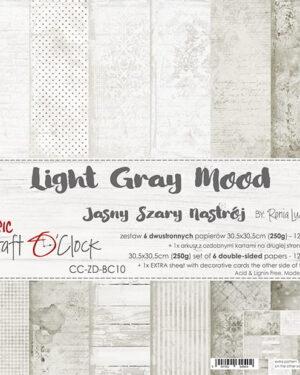 Craft O' Clock – BASIC 10 – LIGHT GRAY MOOD – 30,5X30,5CM
