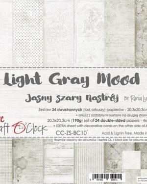 Craft O' Clock – BASIC 10 – LIGHT GRAY MOOD – 20,3X20,3 CM