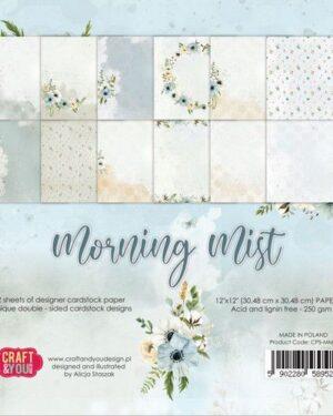 Craft&You Morning Mist Big Paper Set 12×12 12 vel CPS-MM30