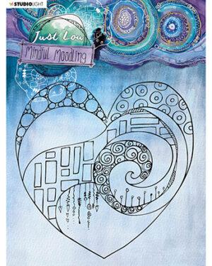 """""""Pre order"""" JL Clear stamp Big heart Mindful Moodling 150x150mm nr.44"""