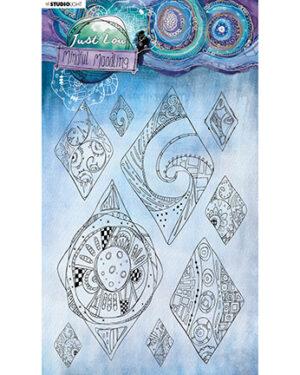 """Pre order"" JL Clear stamp Diamond moodles Mindful Moodling 210x148mm nr.50"