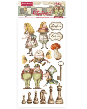 Stamperia Chipboard 15x30cm Alice Through the Looking Glass (DFLCB38)