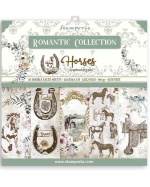 Stamperia Romantic Horses 12×12 Inch Paper Pack (SBBL90)