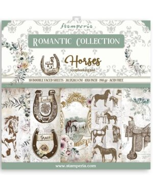 Stamperia Romantic Horses 8×8 Inch Paper Pack (SBBS39)