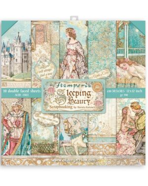 Stamperia Sleeping Beauty 12×12 Inch Paper Pack (SBBL89)