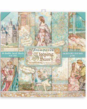 Stamperia Sleeping Beauty 8×8 Inch Paper Pack (SBBS38)