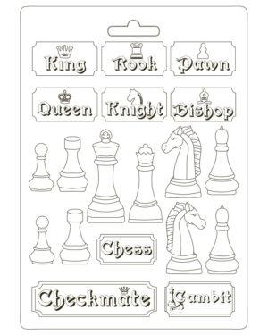 Stamperia Soft Mould A4 Alice Chessboard (K3PTA4507)