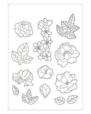 Stamperia Soft Mould A5 Celebration Flowers (K3PTA580)