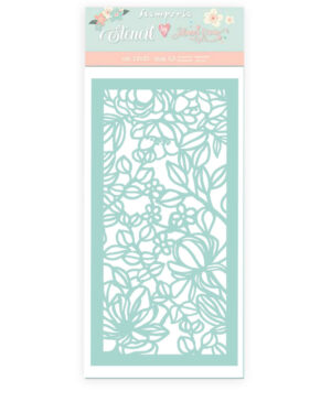 Stamperia Thick Stencil 12x25cm Celebration Flowers and Leaves (KSTDL47)