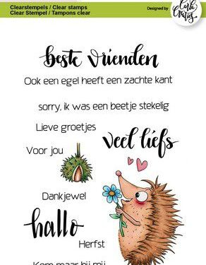 CraftEmotions clearstamps A6 – Hedgy teksten (NL) Carla Creaties
