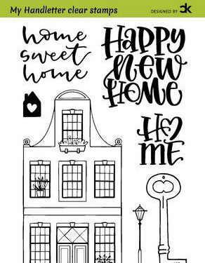 CraftEmotions clearstamps A6 – handletter – Nieuwe Woning 1 (Eng) Carla Kamphuis