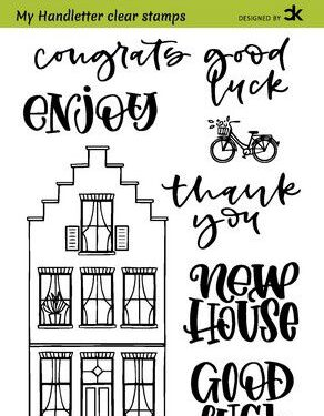 CraftEmotions clearstamps A6 – handletter – Nieuwe Woning 2 (Eng) Carla Kamphuis