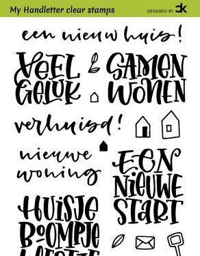 CraftEmotions clearstamps A6 – handletter – Nieuwe Woning 1 (Eng) Carla Kamphuis (kopie)