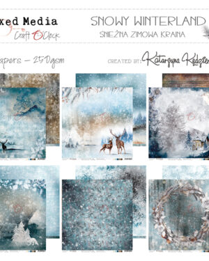 SNOWY WINTERLAND – A SET OF PAPERS 30,5X30,5CM