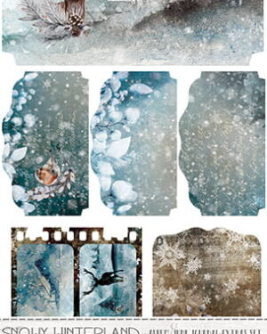 SNOWY WINTERLAND – JUNK JOURNAL EXTRAS SET
