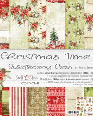 Craft O' Clock – CHRISTMAS TIME – A SET OF PAPERS 30,5X30,5CM