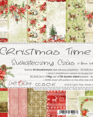 Craft O' Clock – CHRISTMAS TIME – A SET OF PAPERS 20,3X20,3CM
