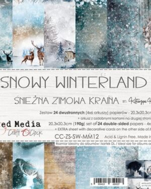 SNOWY WINTERLAND – A SET OF PAPERS 20,3X20,3CM