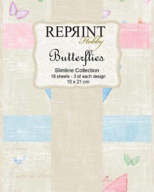 Reprint Butterflies Slimline Paper Pack (RPS005)