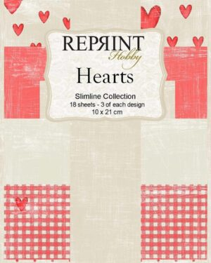 Reprint Hearts Slimline Paper Pack (RPS002)