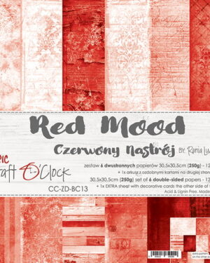 Craft O' Clock – BASIC 13 – RED MOOD – 30,5X30,5CM