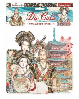 Stamperia Sir Vagabond in Japan Die Cuts (DFLDC50)