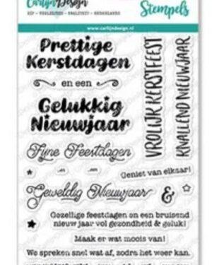 CarlijnDesign Stempels Kerstwensen 1 (CDST-0066)