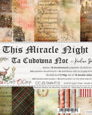 THIS MIRACLE NIGHT – A SET OF PAPERS 20,3X20,3CM