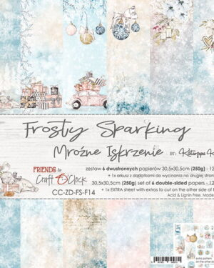 FROSTY SPARKING – A SET OF PAPERS 30,5X30,5CM