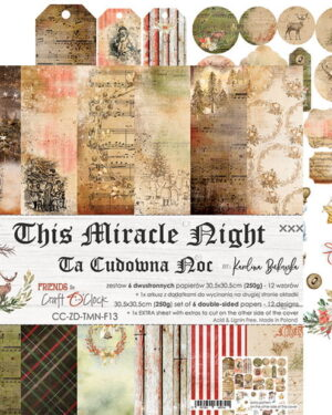 THIS MIRACLE NIGHT – A SET OF PAPERS 30,5X30,5CM