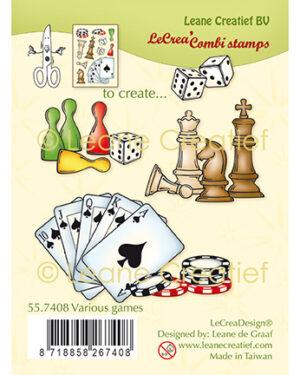 Leane Creatief 557408 – Combi clear stamp Diverse spelen