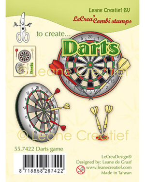 Leane Creatief 557422 – Combi clear stamp Darts